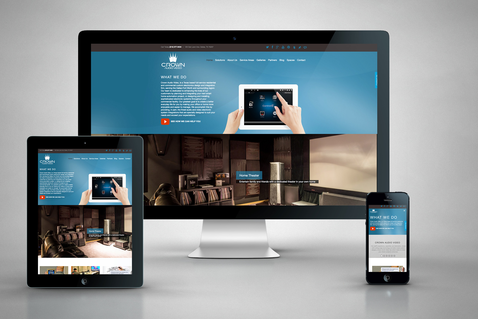 case study crown av website