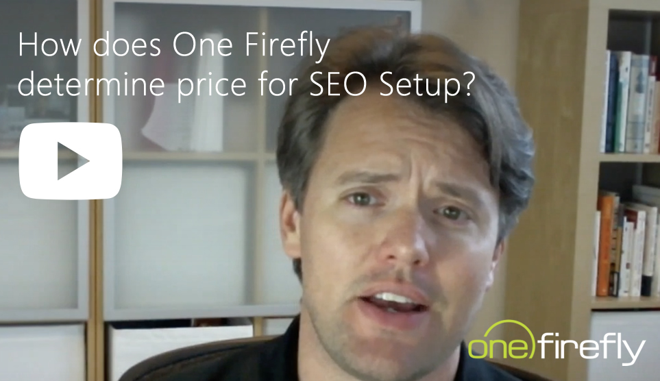 video cover seo how does onefirefly determine price for seo setup