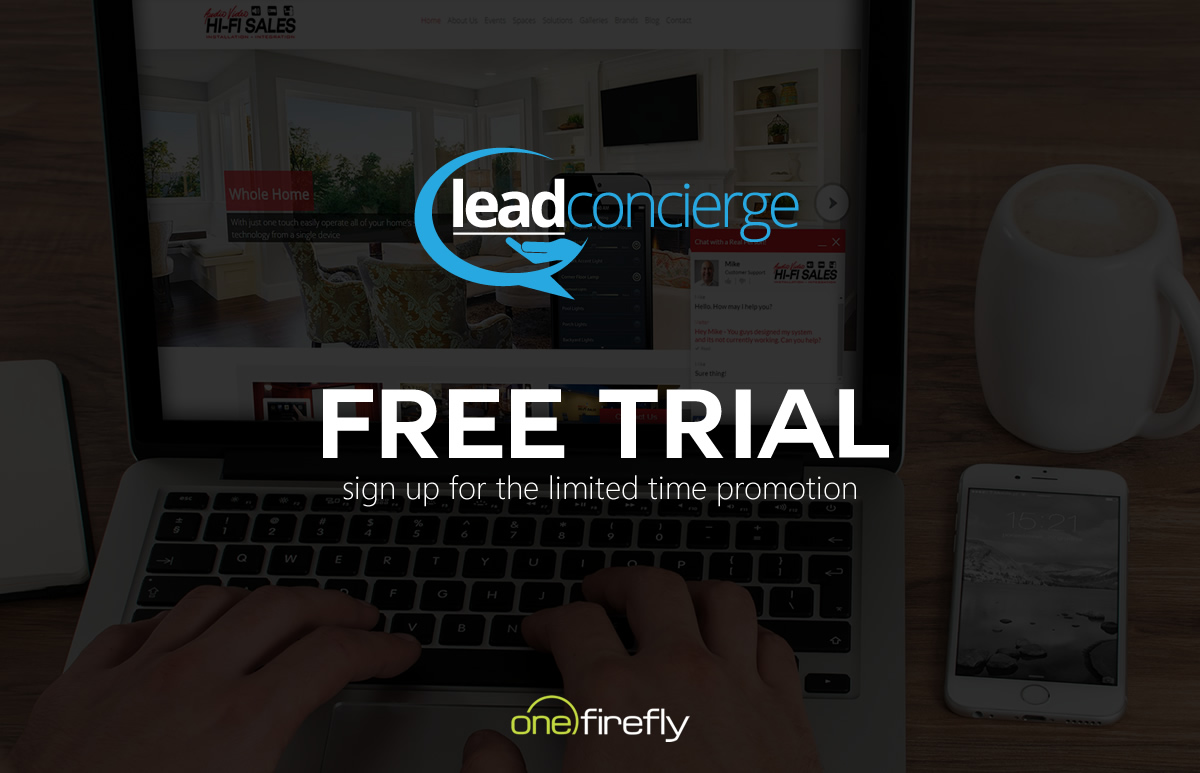 One Firefly Announces Free Trial Promotion for Award-Winning Live Chat Service - Lead Concierge