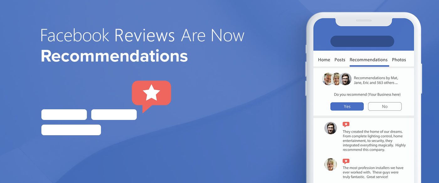 Facebook Reviews Are Now Facebook Recommendations
